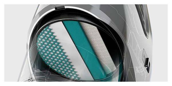 Philips Filtracja 90% drobinek kurzu i alergenów. Trójwarstwowy filtr antyalergiczny