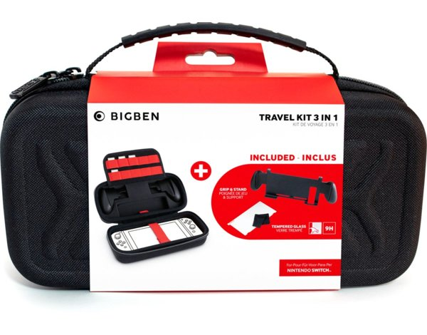 Zestaw akcesoriów BIG BEN Game Travel Kit 3 in 1 do Nintendo Switch