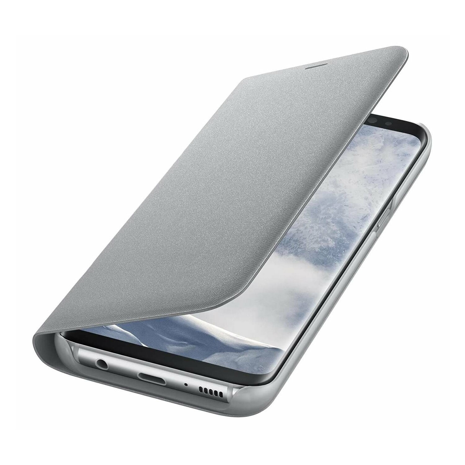 Etui SAMSUNG LED View Cover do Galaxy S8 Srebrny EF-NG950PSEGWW