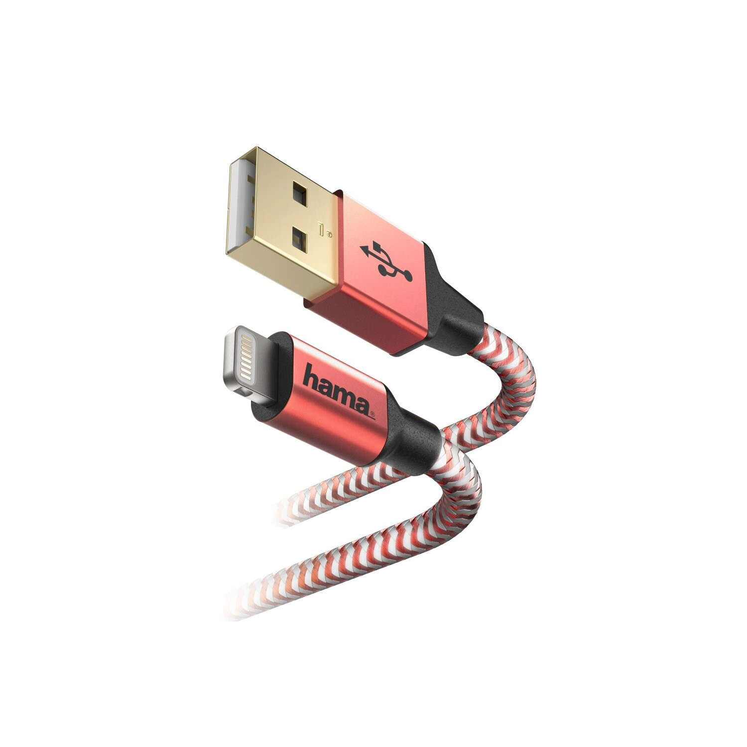 Kabel micro USB HAMA Reflected Lightning 1.5M, Czerwony