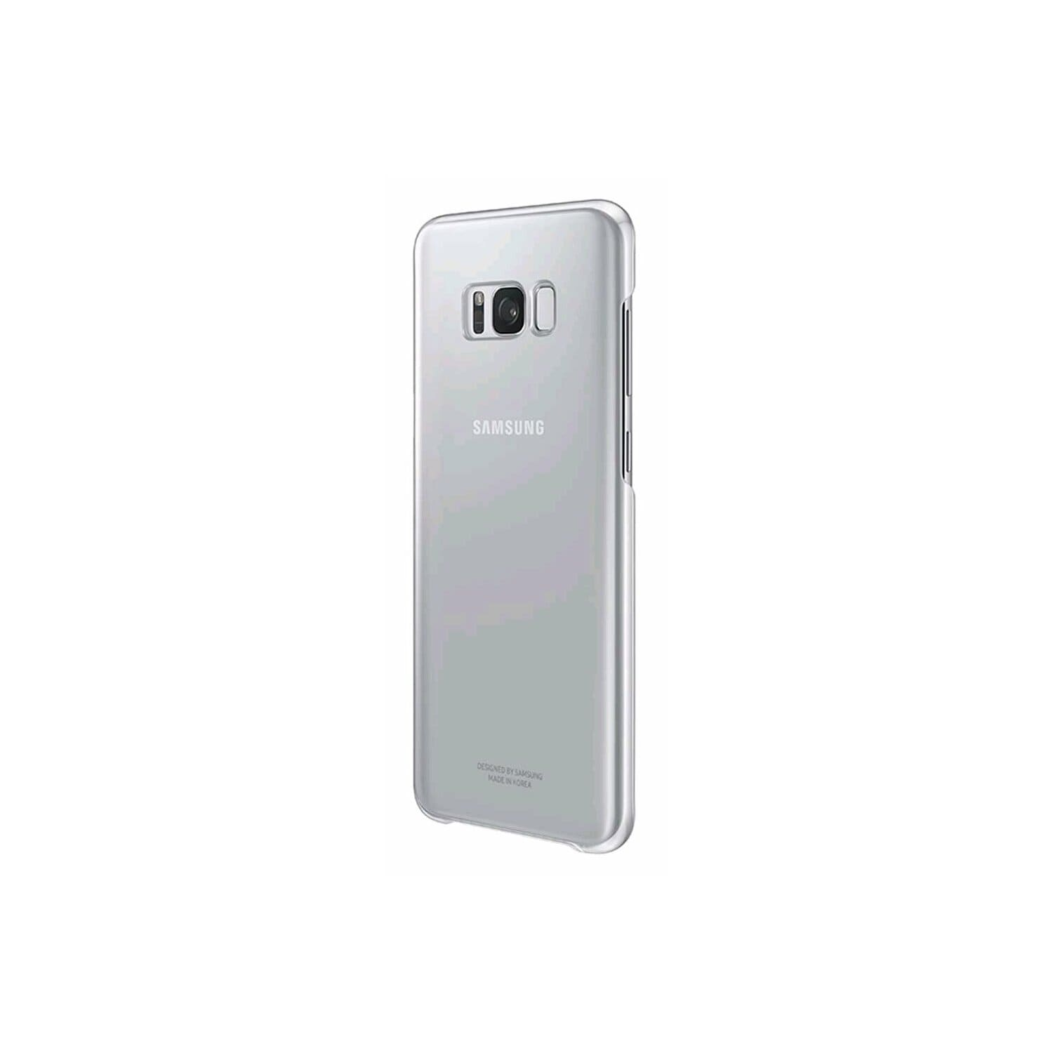 Etui SAMSUNG Clear Cover do Galaxy S8+ Srebrny EF-QG955CSEGWW