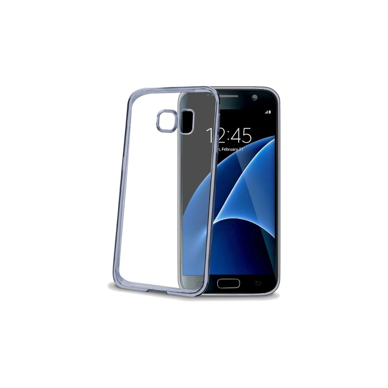 Etui na smartfon CELLY Laser Cover do Samsung Galaxy S7 Srebrno-szary BCLGS7DS
