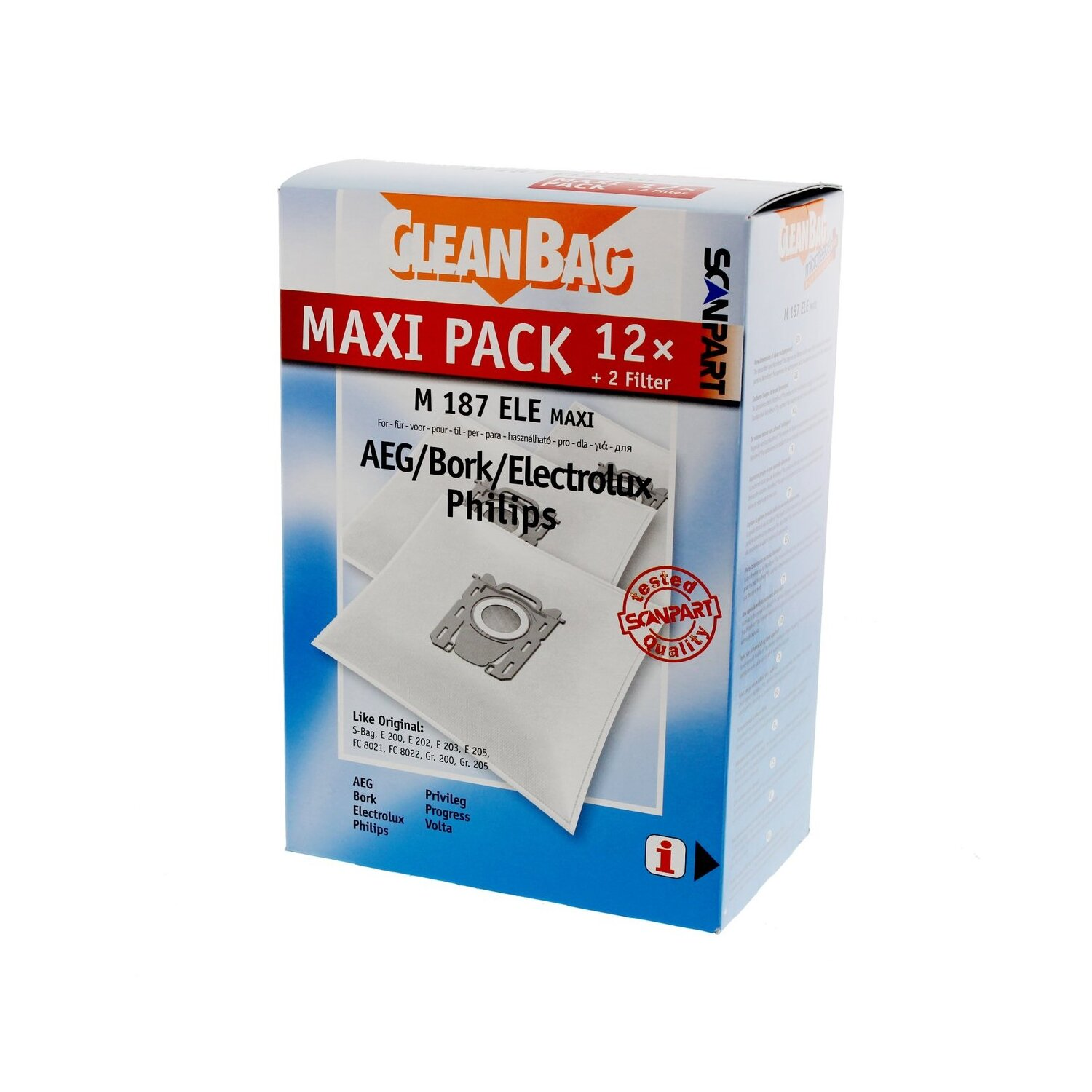 Worki SCANPART M187 ELE MAXI CLEANBAG