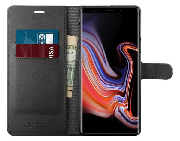 Etui na smartfon SPIGEN Wallet S do Samsung Galaxy Note 9 Czarny 599CS24579