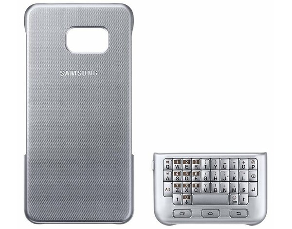 Etui SAMSUNG Keyboard Cover do Galaxy S6 Edge+ Srebrny