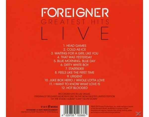 Greatest Hits-Live