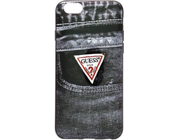 Etui GUESS Denim TPU Case Black Jeans 02 do Apple iPhone 6 Czarny