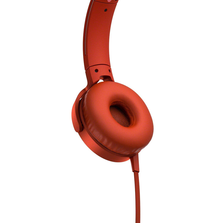 Słuchawki SONY MDR XB550AP Czerwony