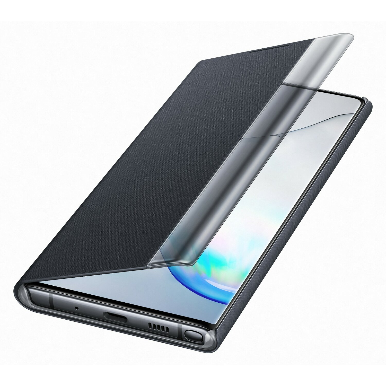 Etui na smartfon SAMSUNG Clear View Cover do Galaxy Note 10 Czarny EF-ZN970CBEGWW