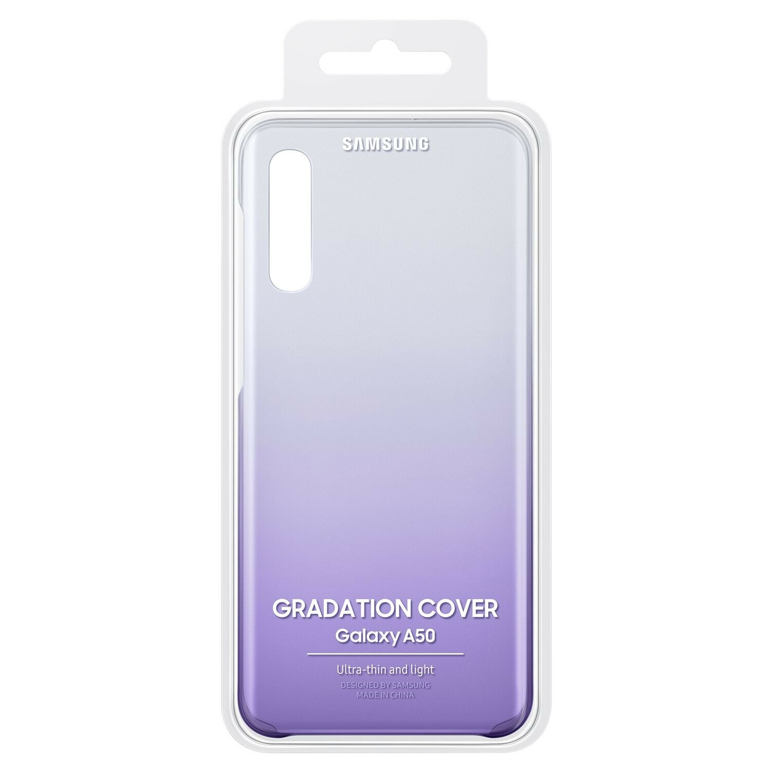 Etui SAMSUNG Gradation do Galaxy A50 Fioletowy EF-AA505CVEGWW