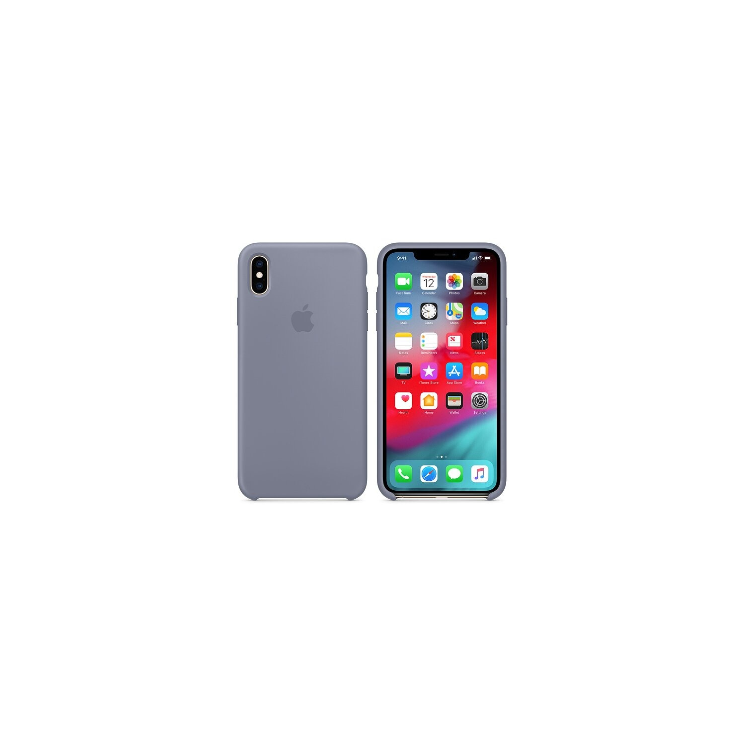 Silikonowe etui APPLE do iPhone XS Max Lawendowo-szary MTFH2ZM/A