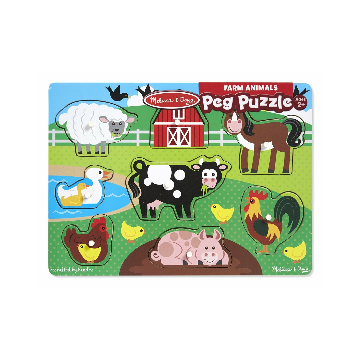 Puzzle drewniane MELISSA & DOUG Farm animals 19050