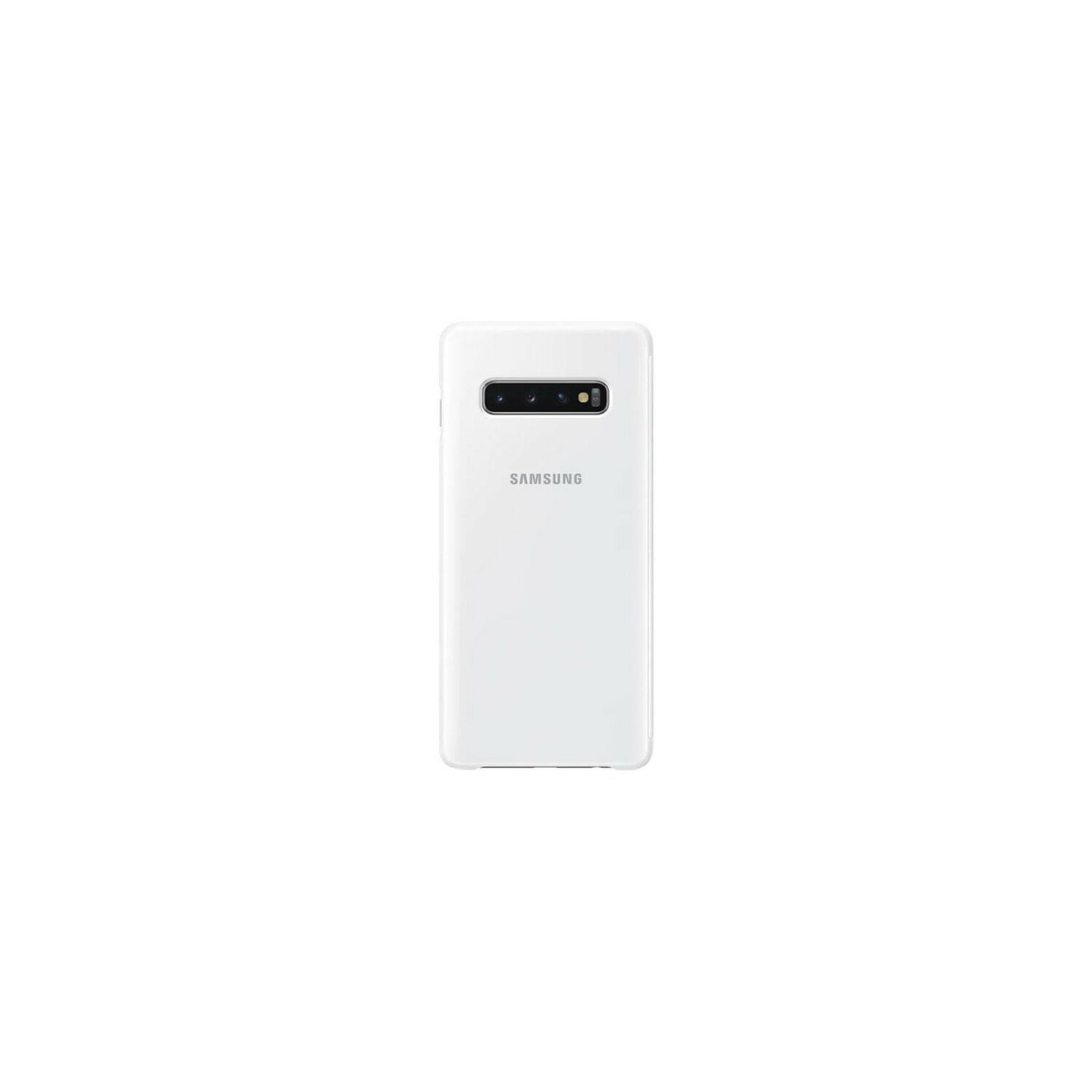 Etui SAMSUNG Clear View Cover do Galaxy S10 Plus Biały EF-ZG975CWEGWW